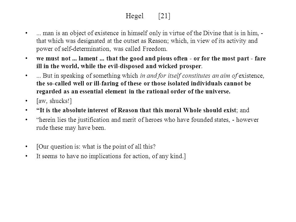 Hegel [21]
